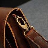 Sacchetto del messaggero del computer portatile dell'uomo di sacchetto di cuoio della mucca di affari