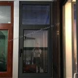 Tissu pour rideaux de double vitrage de profil de prix bas/guichet en aluminium d'oscillation