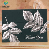 Plata atractiva de encargo que estampa tarjetas de felicitación de la invitación de la boda