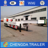 2015 4Low-Boy Lowbed eje semi-remolques con rampa