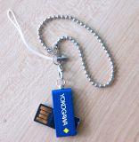 4cm 자유로운 열쇠 고리 32GB 64GB 128GB를 가진 소형 USB 펜 드라이브