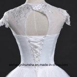 Reizvolles V-Stutzen Kugel-Hochzeits-Kleid-Weinlese-Spitze-Hochzeits-Kleid