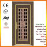 Porte de porte principale en bois solide de Sapele double avec le linteau