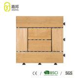 Tecleo de madera de la estera de los azulejos de suelo de la madera de la fábrica del azulejo de Foshan del Decking natural de la terraza en el precio barato del diseño de virutas para la venta