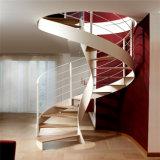 工場価格の内部の木製階段現代螺旋階段