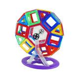 48PCS 밝은 플라스틱 빌딩 블록 교육 자석 도선장 바퀴 장난감