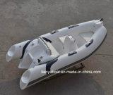 Liya 3,8 m bateau gonflable rigide en fibre de verre nervure bateaux gonflables