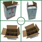 6本のディバイダが付いているビール段ボール紙の包装ボックス