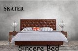 A01 미국식 침실 직물 침대 가죽 침대