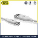 2 m de comprimento de dados USB Tipo C Cabo de telefone móvel