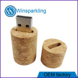 Memoria Flash del USB del sughero del vino del Brown