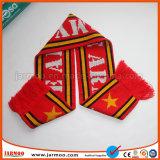 Горячая продажа полосами теплого футбола трикотажные шарфы