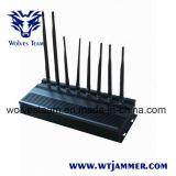 8 GPS Lojack van WiFi van de Stoorzender van de Telefoon van de Hoge Macht van banden 3G de UHFStoorzender van VHF
