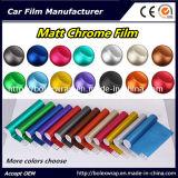 Interior film adhesivo de vinilo adhesivo decorativo, coche de cromo mate Tamaño de la película elija