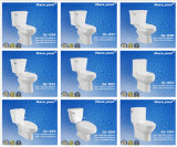 Toilettes en deux pièces en céramique de taille différente pour la salle de bains