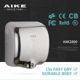 Dessiccateur à grande vitesse de main d'air automatique de gicleur de détecteur d'acier inoxydable d'UL de la CE pour la salle de bains d'hôtel