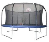 Популярный Детский большая круглая крытые спортивные батут с баскетбольное кольцо