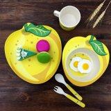 Bambusfaser-5-Piece gedrucktes Kind-Abendessen-Set scherzt Abendessen-Set (YK-KS0128)