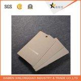Etiqueta de encargo de la caída de la ropa del papel de calidad de Execllent del fabricante con la impresión