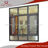 50 [سري] معدن رخيصة ألومنيوم شباك نافذة مع زجاج مزدوجة