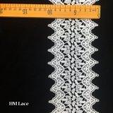 garniture 100% africaine de lacet d'organza de broderie de lacet de polyester de largeur de 10.5cm Hmhb673