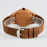 Os homens relógios de pulso relógios de madeira com couro