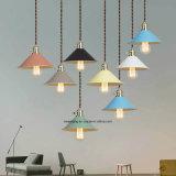 Lámpara colgante de interior para la decoración de la iluminación en siete colores