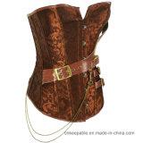 Corsé gótico atractivo de la correa de cintura que adelgaza que adelgaza a la talladora de cuero de la carrocería