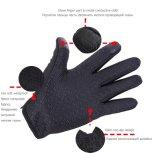 Winter-Fahrrad Sports wasserdichten komprimierenden Handschuh-Technologie-windundurchlässige warme Reißverschluss-Mann-Frauen geberührten Bildschirm-Schwarz-Reithandschuh G001