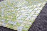 Tamaño del chip de 20x20mm amarillo blanco decorativos baldosa mosaico de vidrio