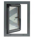 Fehlerfreier Beweis-plattiertes hölzernes Aluminiumfenster mit doppeltem glasig-glänzendem Glas