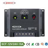 Controlemechanisme van de Last van de Batterij van het Merk 12V/24V van Paco het Zonne15A