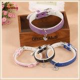 Quatre couleurs de qualité Pet cuir Colliers Colliers /chien chat (KC0128)
