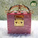Fashion Evening Bag Squre Handbag High Quality acrylic Bag Eb936