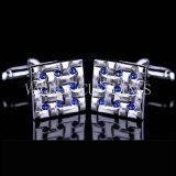 VAGULA 최고 질 참신 사파이어 모조 다이아몬드 Gemelos 커프스 단추