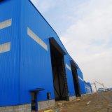 工場からの軽い鉄骨構造が付いている倉庫の構築