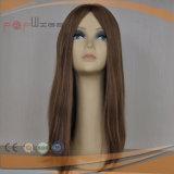 Peluca judía hermosa de Brown del pelo humano (PPG-l-0255)