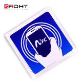 Étiquette d'à haute fréquence Ntag215 NFC de l'IDENTIFICATION RF estampée par logo 13.56MHz