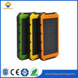 Chargeur solaire de téléphone mobile de côté portatif du pouvoir 12000mAh