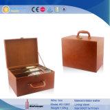 Seis botellas de madera Caja de almacenamiento de vino maleta con el vino accesorios (5118)