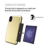 Het Geval van de Kaart van de Korrel van het draadtrekken voor LG G5 G6 2 in-1 Geval van de Telefoon van PC TPU voor LG G5 G6