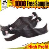 Человеческого волоса продление малайзийской прямые волосы