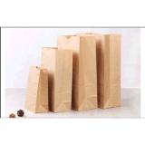 Bolso promocional del papel de Kraft de la dimensión de una variable con la impresión de la insignia