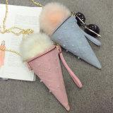 新しい女性袋の大きい嫌われ者のアイスクリーム甘い袋のパッケージ袋の肩のねじれの鎖の携帯電話袋