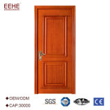 Puertas interiores del dormitorio de madera sólida de la nuez negra