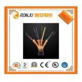 filo di messa a terra giallo verde flessibile isolato PVC di rame del conduttore 450/750V