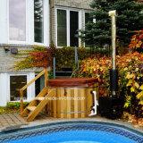 卸売のためのベストセラーのヒマラヤスギの鉱泉の円形木温水浴槽