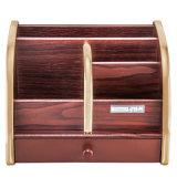 4 отсеков 1 выдвижной ящик деревянный канцелярские данные органайзера