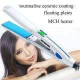 Capa de cerámica del Tourmaline de la enderezadora del pelo del LCD Digital de los productos de belleza