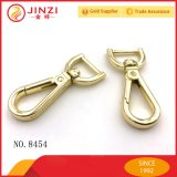 Kundenspezifisches Firmenzeichen-goldene Metallschwenker-Verschluss-Hundehaken